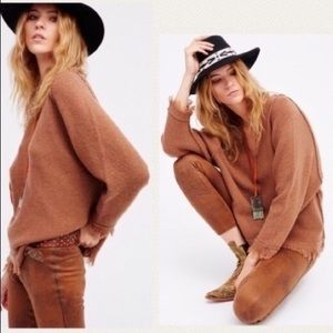 NWT Free People Irresistible Brown Sweater